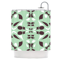 "Miranda Mol ""Swirling Teal"" Shower Curtain 