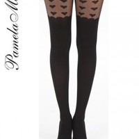 Pamela Mann Big Heart Sheer Suspender Tights – Tights, Stockings, Shapewear and more – MyTights.com - The Online Hosiery Store