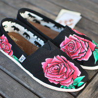 Custom Hand Panted Rose Toms