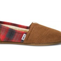 Camel Wool Plaid Women's Classics