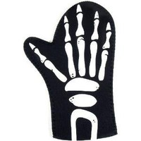 Boston Warehouse Large Black Skeleton Hand Oven Mitt