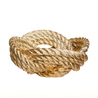 Knotted Rope Bowl by Areaware in Gold - Pop! Gift Boutique