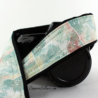 Gossamer dSLR Camera Strap, Aqua, Antique White, Rust, SLR, 143