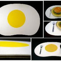 Tonky Limited Edition: Felt Sunny Side Egg Placemats - Stylehive