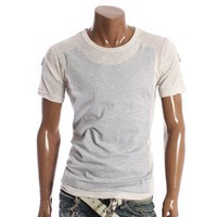 Doublju Mens Knitted Rollup T-shirts (D03)