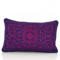 www.roomservicestore.com - Indian Elegance Embroidered Lumbar Pillow (Out of Stock)