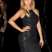 Kardashian Caviar Bead Bodycon Dress