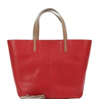 Mod'Arte Genuine Leather Tote Bag- Made in Italy - Everyday Carryall - Modnique.com