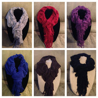 20% off HOLIDAY SALE: Ruffle scarves in a variety of colors