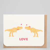 Carolyn Suzuki Dino Love Card - Urban Outfitters