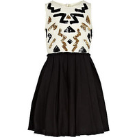 GIRLS BLACK AZTEC SEQUIN PROM DRESS