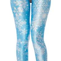 Snow Flake Leggings - LIMITED | Black Milk Clothing