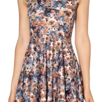 Crazy Cat Lady Reversible Skater Dress | Black Milk Clothing