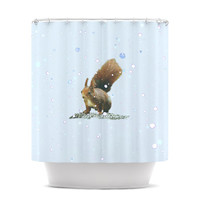 KESS InHouse Squirrel Polyester Shower Curtain