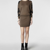 Womens Dissolve Sweater Dress (Khaki) | ALLSAINTS.com