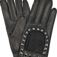 Burberry | Studded leather gloves | NET-A-PORTER.COM