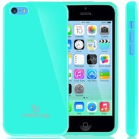 Caseology Apple iPhone 5C [Retro Flex Series] - Slim Fit TPU Protector Shock Absorbent Bumper Case (Turquoise / Mint) [Made in Korea] (for Verizon, AT&T Sprint, T-mobile, Unlocked)