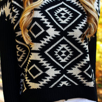 All About the Aztec Sweater