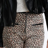 High Waist Leopard Shorts