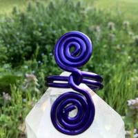 Purple Passion Spiral Wire Wrapped Ring