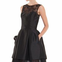 Pleated Lace Dress by Theia