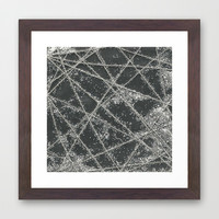 Sparkle Net Black Framed Art Print by Project M