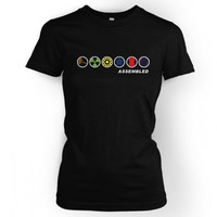Something Geeky PP - Assembled In A Row Womens T Shirt Inspired By The Avengers