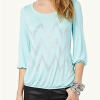 Chevron Gem Tunic Top | Fashion | rue21