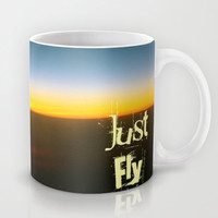 Just Fly Mug by Louise Machado