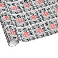Create Your Own Instagram Collage Custom Monogram Gift Wrap Paper