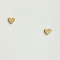 A Fresh Heart Gold Heart Earrings