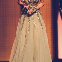 Dress: gold glitter sparkly sweetheart long