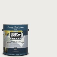 BEHR Premium Plus Ultra 1-Gal. #PPU12-12 Gallery White Satin Enamel Interior Paint-775001 at The Home Depot
