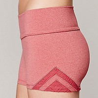 Free People Womens Geo Insert Yoga Shorts