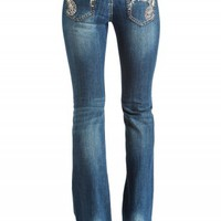 GRACE IN LA BOOT SCROLL JEANS