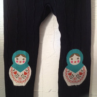 Matryoshka Russian Doll Leggings size Large