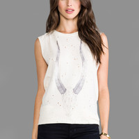 DAYDREAMER Geo Antelope Muscle Tank in Tea Stain