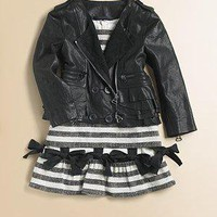 Kid by Phillip Lim - Toddler's & Little Girl's Ruffled Motorcycle Leather Jacket - Saks.com