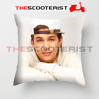 "Austin Mahone on Chair - Pillow Cover 18"" x 18"" - One Side"