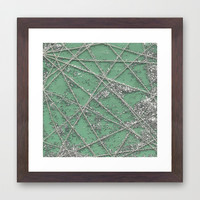 Sparkle Net Mint Framed Art Print by Project M
