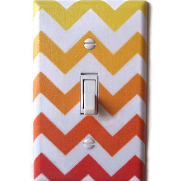 Chevron Sunset Single Toggle Switch Plate