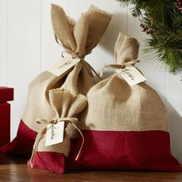 RED DIPPED BURLAP BAG