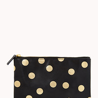 Metallic Polka Dot Cosmetic Pouch