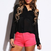 Rosey Pink Low Rise Shorts