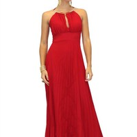 Maxi Party Dress in Red (VD-580-r)