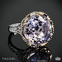 Tacori Blushing Rose Amethyst Ring in Sterling Silver with 18k Rose Gold Accents