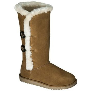 Women's Xhilaration® Kallima Genuine Suede Shearling Style Boots - Assorted Colors