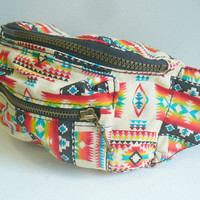 LAST ONE White Aztec Fanny Pack