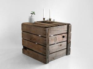 Rustic Wood Coffee Table/Crate by Hindsvik on Etsy