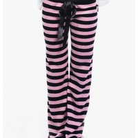 Pink Bottom Line Fleece Pajama Pants | $8.50 | Cheap Trendy Pants Chic Discount Fashion for Women